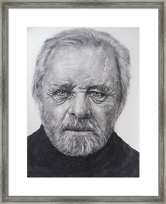 Anthony Hopkins Framed Print by Adrienne Martino