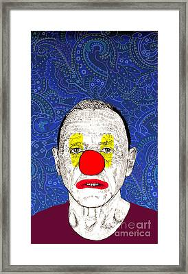 Framed Print featuring the drawing Anthony Hopkins by Jason Tricktop Matthews
