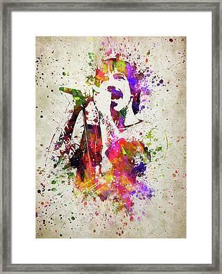 Anthony Kiedis In Color Framed Print