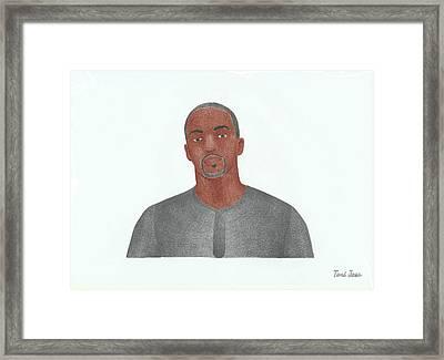 Anthony Mackie Framed Print