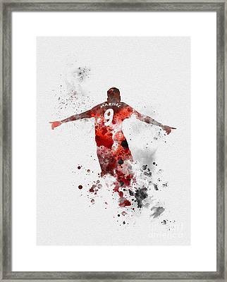 Anthony Martial Framed Print by Rebecca Jenkins