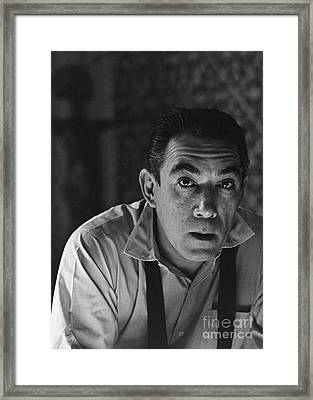 Anthony Quinn Framed Print by Photo Researchers