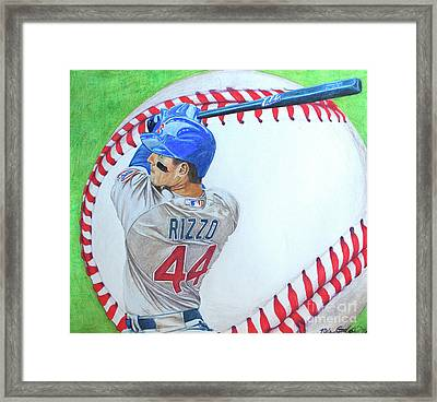 Anthony Rizzo 2016 Framed Print by Melissa Goodrich