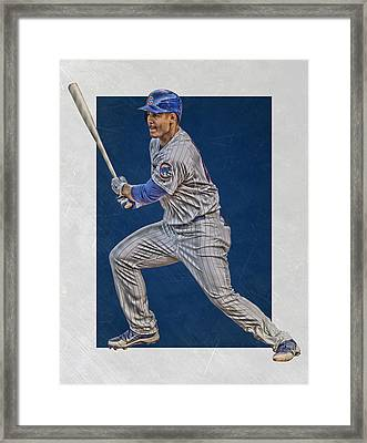 Anthony Rizzo Chicago Cubs Art 2 Framed Print by Joe Hamilton
