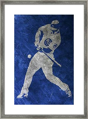 Anthony Rizzo Chicago Cubs Art Framed Print