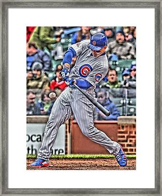 Anthony Rizzo Chicago Cubs Framed Print by Joe Hamilton