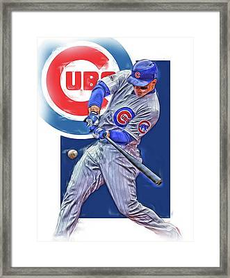 Anthony Rizzo Chicago Cubs Oil Art Framed Print