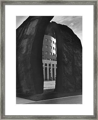 Anthracite Eye Framed Print by Jim Furrer