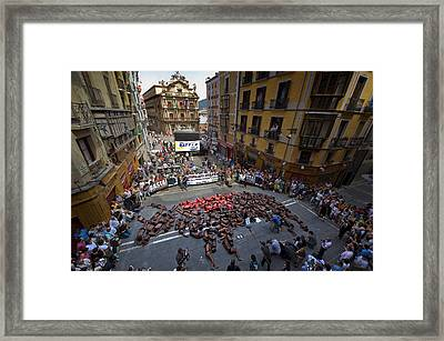 Anti Bullfighting Protest Framed Print by Rafa Rivas