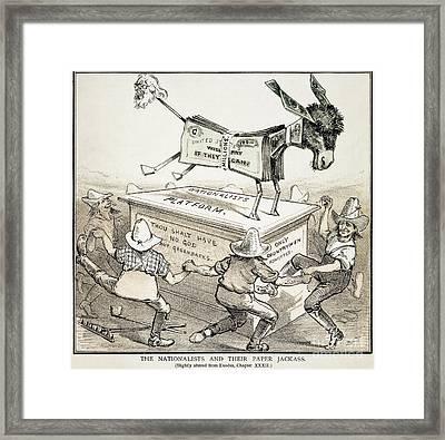 Anti-greenback Cartoon Framed Print by Granger