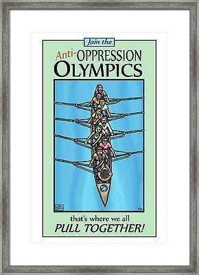 Anti-oppression Olympics Framed Print