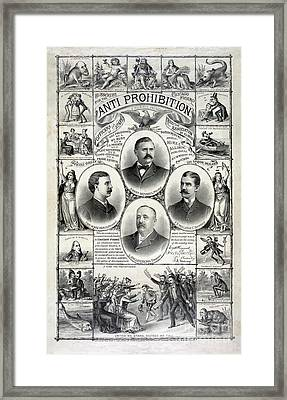 Anti Prohibition Poster Framed Print