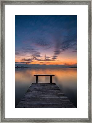 Anti-stress Pier Framed Print