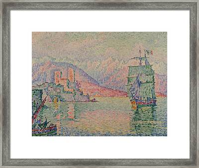 Antibes Evening Framed Print by Paul Signac
