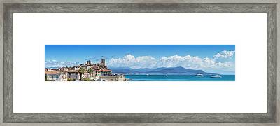 Antibes Old Town - Panoramic Framed Print