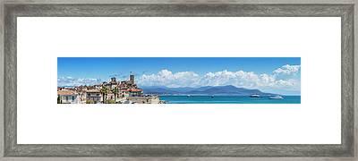 Antibes Old Town - Panoramic Framed Print by Melanie Viola