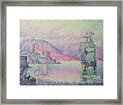 Antibes Framed Print by Paul Signac