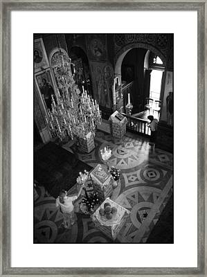 Anticipating The Feast Framed Print by Julia Bridget Hayes