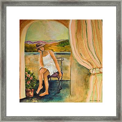 Anticipation Framed Print by Blake Originals - Marjorie and Beverly
