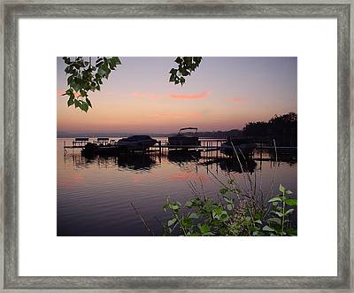 Anticipation Framed Print by Dennis Leatherman