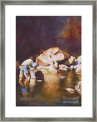 Anticipation Framed Print by Jany Schindler