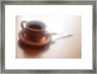Anticipation Of Coffee Framed Print by larisa Fedotova