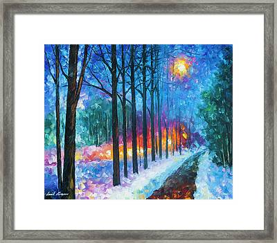 Anticipation Of Spring  Framed Print by Leonid Afremov