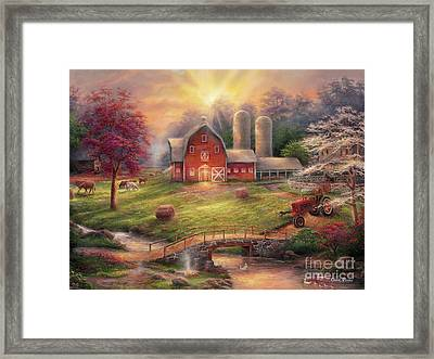 Anticipation Of The Day Ahead Framed Print