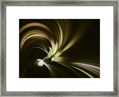 Anticipation Of The Spring. Dark Version Framed Print