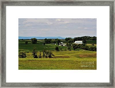 Antietam Battlefield And Mumma Farm Framed Print