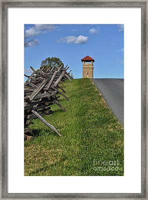 Antietam Battlefield Observation Tower Framed Print by Lois Bryan