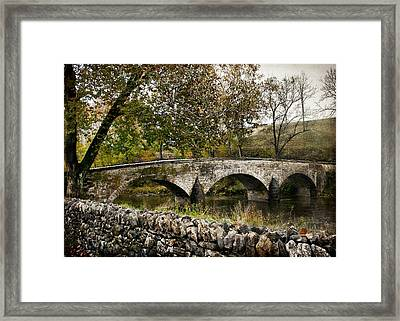 Burnside's Bridge Over Antietam Creek Framed Print by Kathleen Scanlan