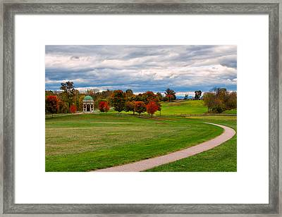 Antietam Maryland State Monument Framed Print by John M Bailey