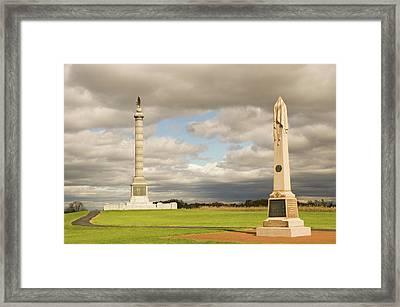 Antietam Monuments Framed Print