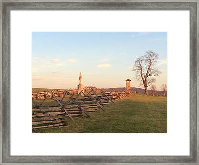 Antietam Tower Late In The Day Framed Print