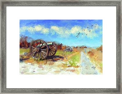 Antietam Under Blue Skies  Framed Print by Lois Bryan