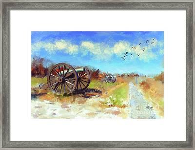 Antietam Under Blue Skies  Framed Print