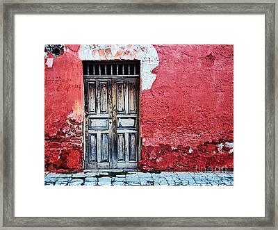 Antigua Door  Framed Print