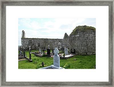 Framed Print featuring the photograph Antigua Iglesia De Killinaboy, Ireland by Marie Leslie