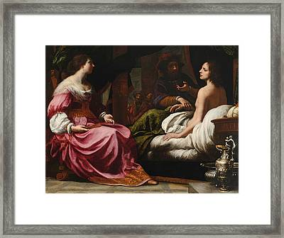 Antiochus Prince Of Syria And Stratonice His Stepmother Framed Print
