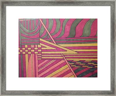 Antipasto Framed Print by Modern Metro Patterns and Textiles