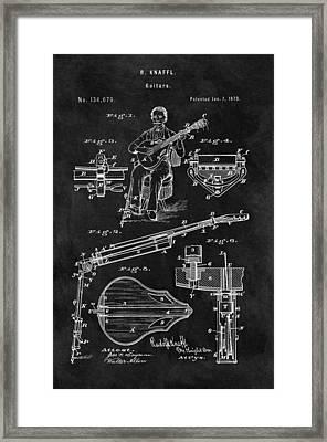 Antique 1873 Guitar Framed Print