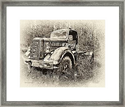 Antique 1947 Mack Truck Framed Print