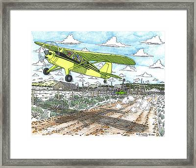 Antique Airplane Taking Flight Framed Print by Bill Friday