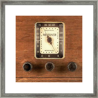 Antique Radio Framed Print by Jim Hughes