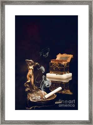 Antique Ashtray  Framed Print by Amanda Elwell