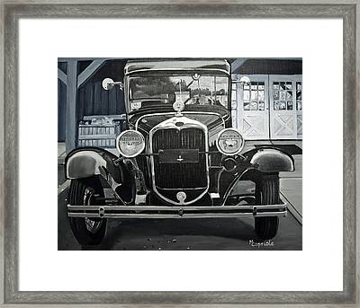 Antique At Mann's Framed Print by Mary Capriole