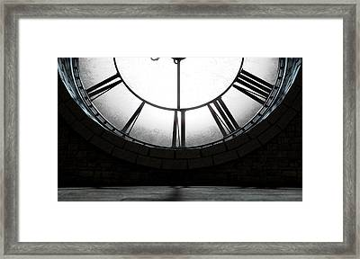 Antique Backlit Clock Framed Print