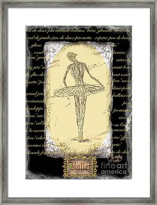 Antique Ballet Framed Print by Cynthia Sorensen