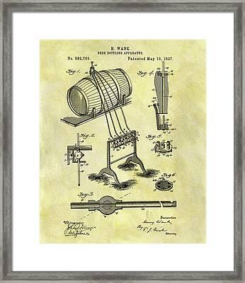 Antique Beer Bottling Patent Framed Print